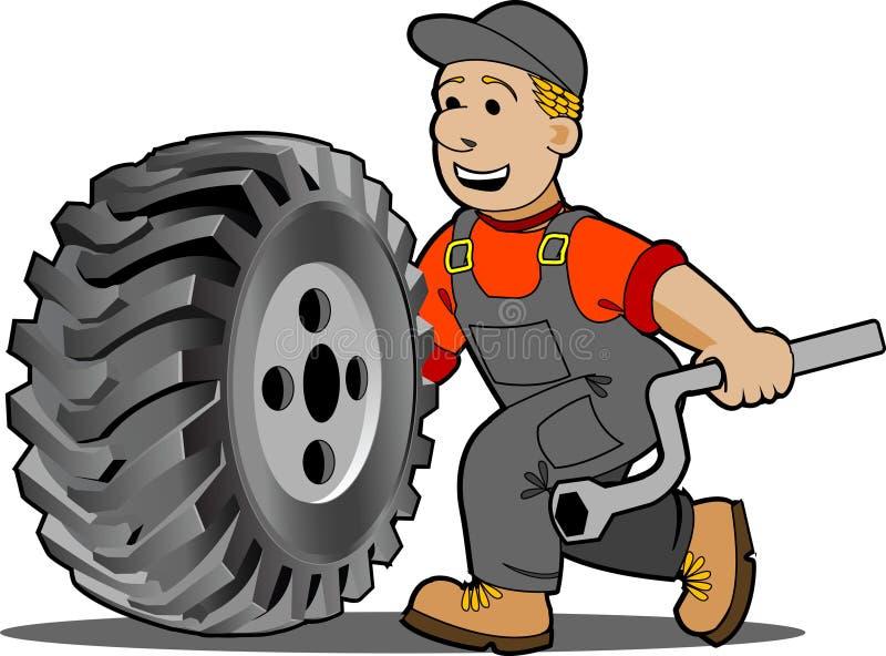 Meccanico. illustrazione di stock