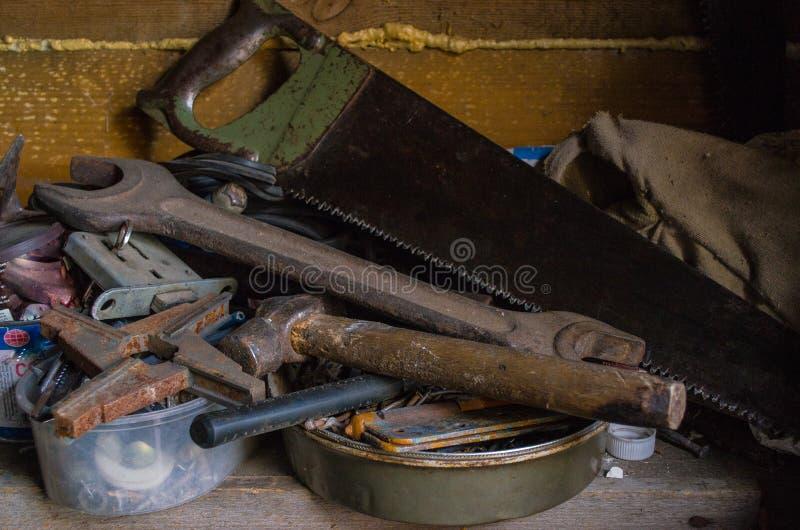 Meccanico anziano degli strumenti fotografia stock