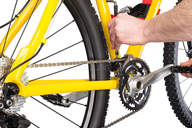 Meccanico della bicicletta fotografia stock
