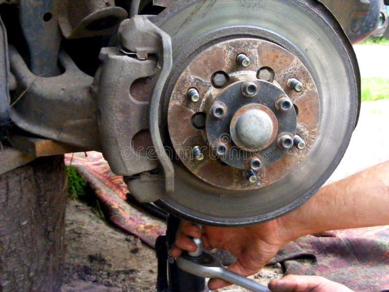 Meccanico di automobile Riparazione automatica fotografie stock libere da diritti