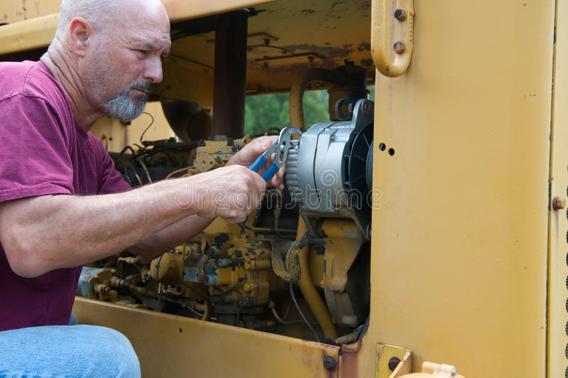 Meccanico diesel immagine stock