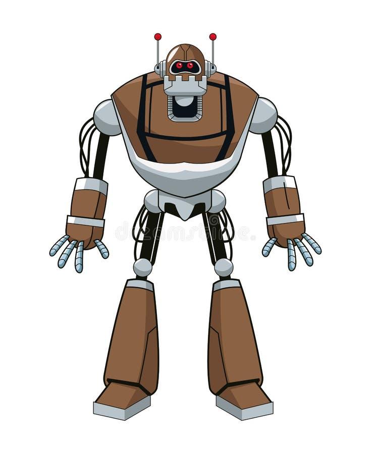 Meccanico elettrico del robot di Brown royalty illustrazione gratis