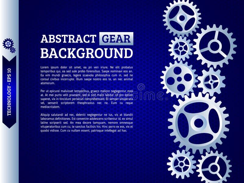 Meccanismo con gli ingranaggi integrati per le presentazioni di affari o dentro illustrazione di stock