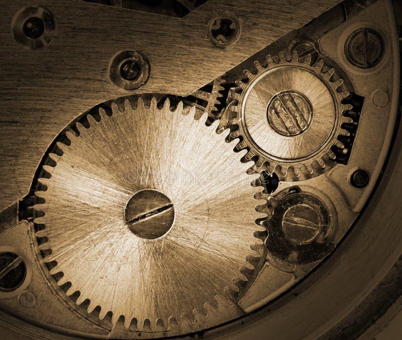 Meccanismo dell'orologio fotografia stock