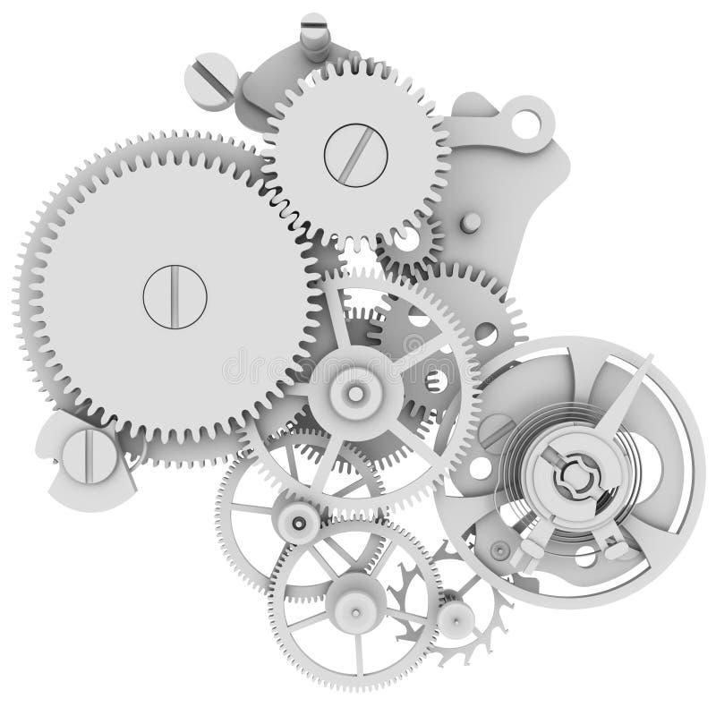 Meccanismo dell'orologio illustrazione di stock