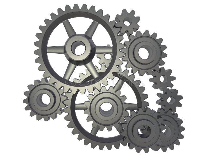 Meccanismo della ruota dentata illustrazione di stock