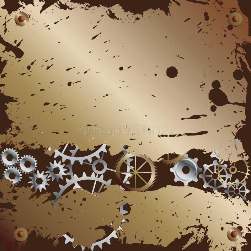 Meccanismo di attrezzo di una vigilanza o di un orologio illustrazione di stock