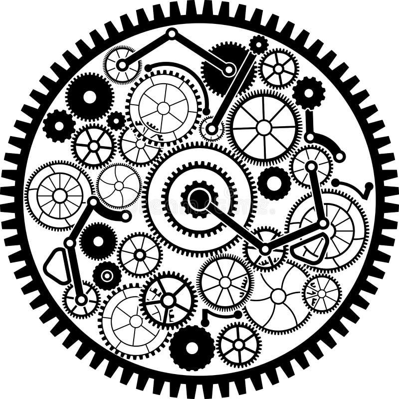 Meccanismo di ingranaggio illustrazione vettoriale