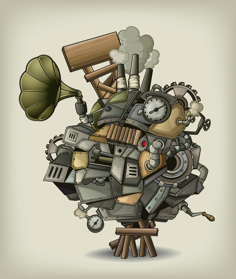 Meccanismo di Steampunk royalty illustrazione gratis