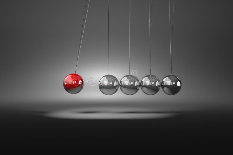 Meccanismo metallico delle palle illustrazione vettoriale