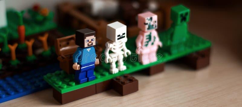 Meccano de LEGO imagens de stock