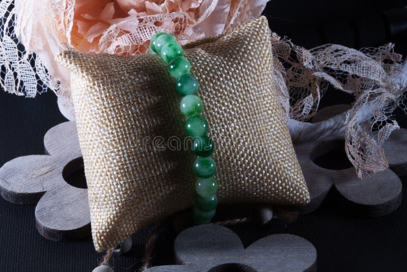 Mech agata naturalna kamienna bransoletka zdjęcie royalty free