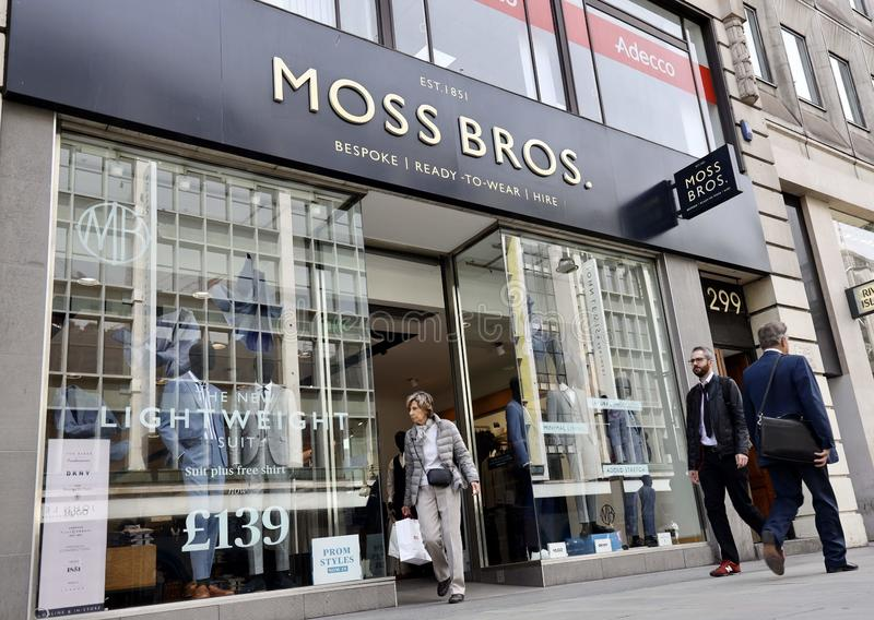Mech Bros sklep na Oksfordzkiej ulicie, Londyn obraz stock