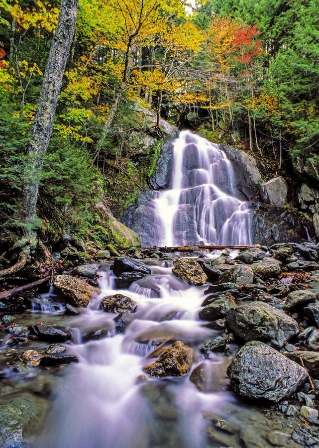 Mech roztoki spadki, Granville, Vermont obrazy royalty free