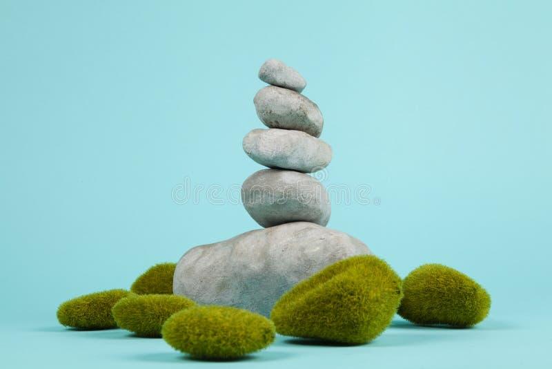 Mech zen i skała obraz stock