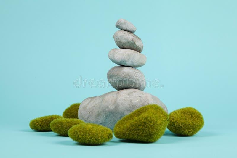 Mech zen i skała zdjęcia stock