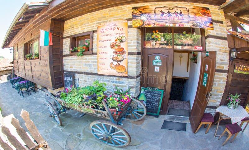 Mechana - een nationale Bulgaarse herberg in het bergdorp van Zheravna royalty-vrije stock foto's
