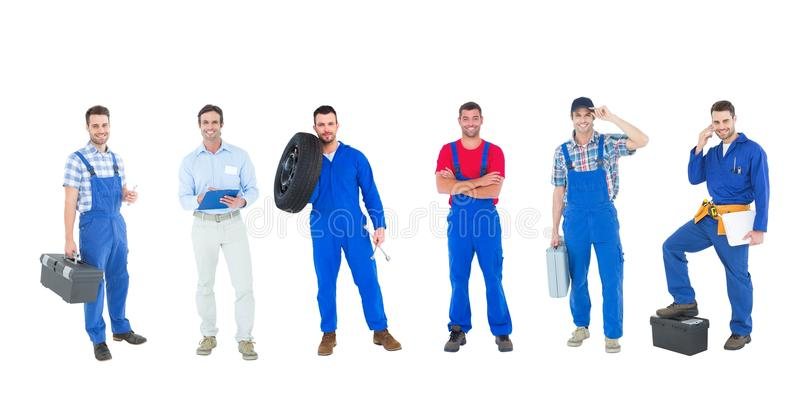 mechanic group royalty free stock image