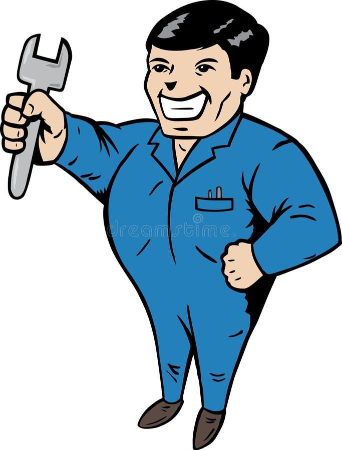 Mechanic Guy royalty free illustration