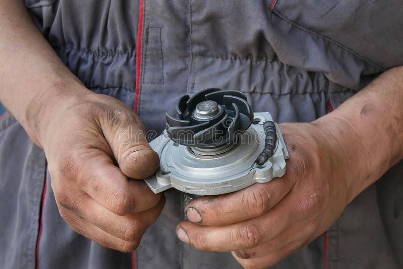 Automotive, water pump for car royalty free stock photos