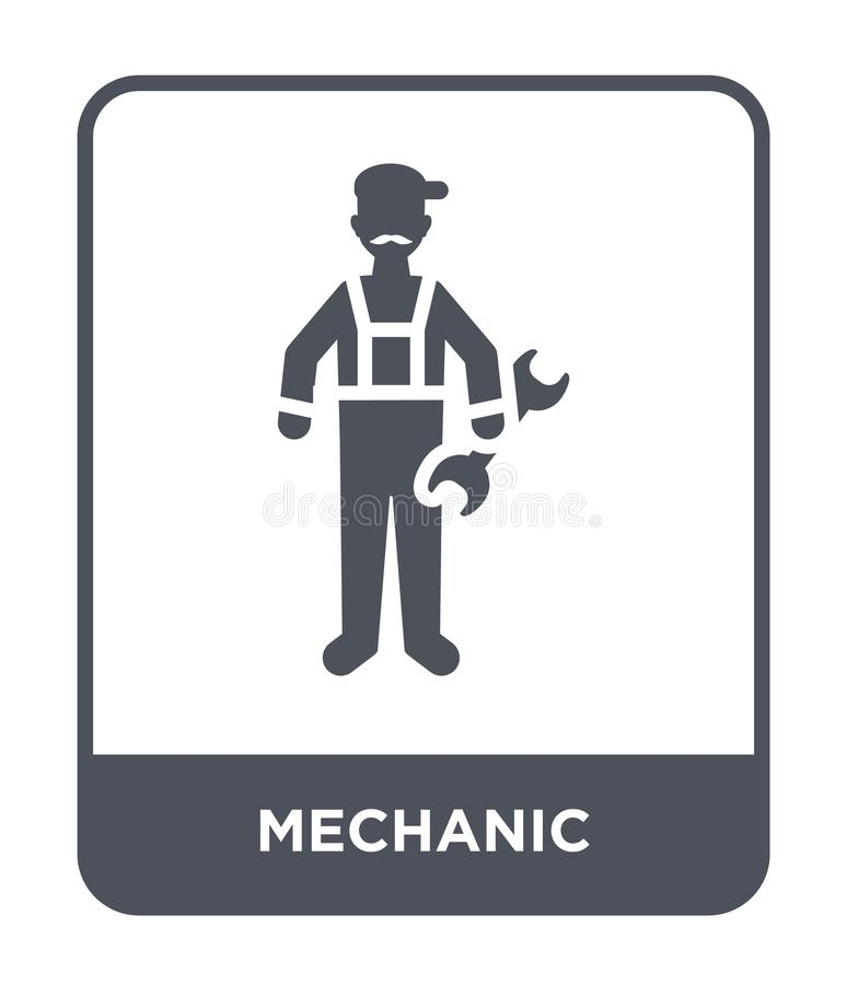 mechanic icon in trendy design style. mechanic icon isolated on white background. mechanic vector icon simple and modern flat royalty free illustration