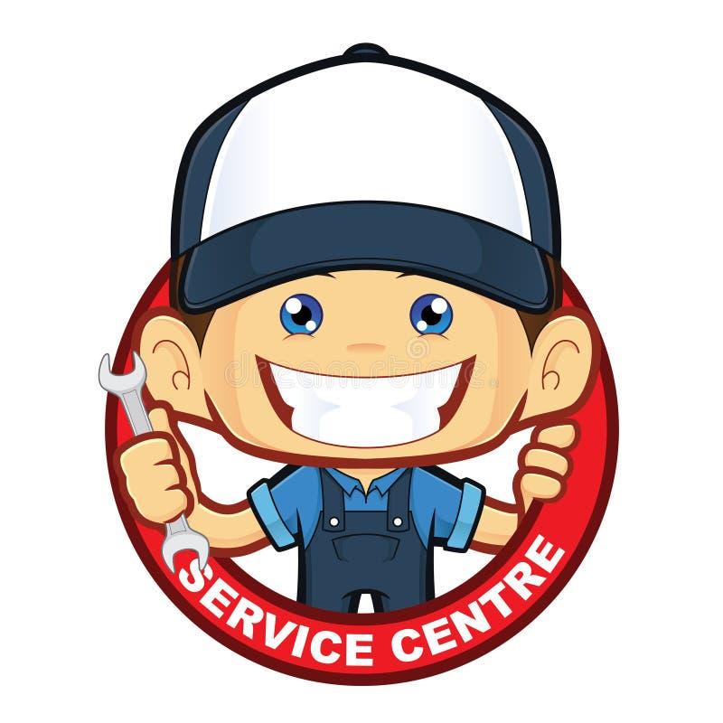 Mechanic service centre royalty free illustration