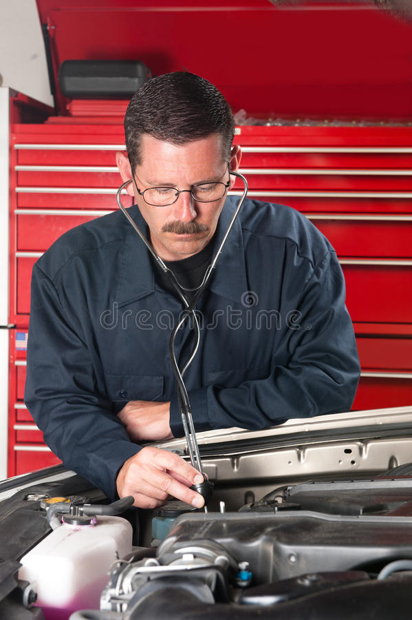 Mechanic and stethscope royalty free stock photography