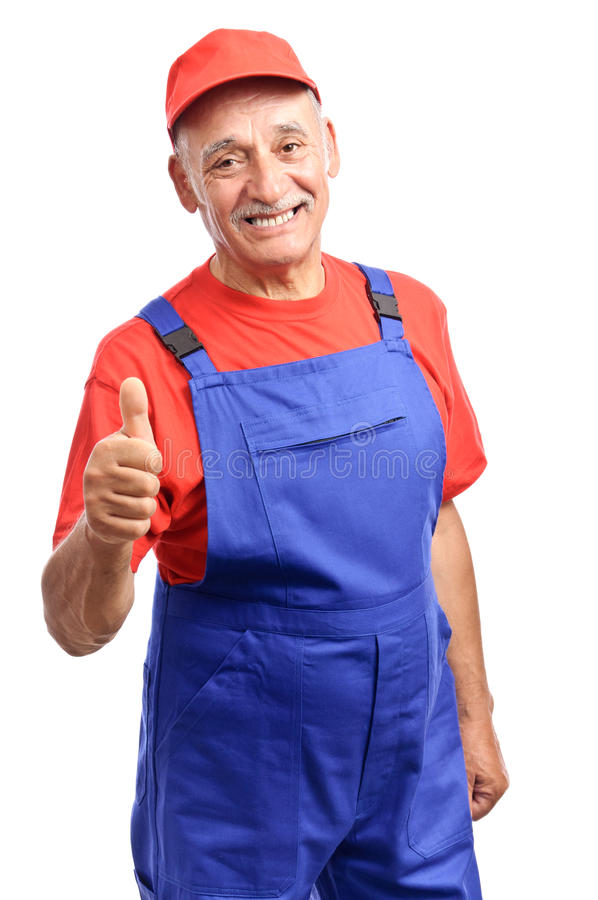 Download Mechanic thumb up stock image. Image of background, vertical - 20402829