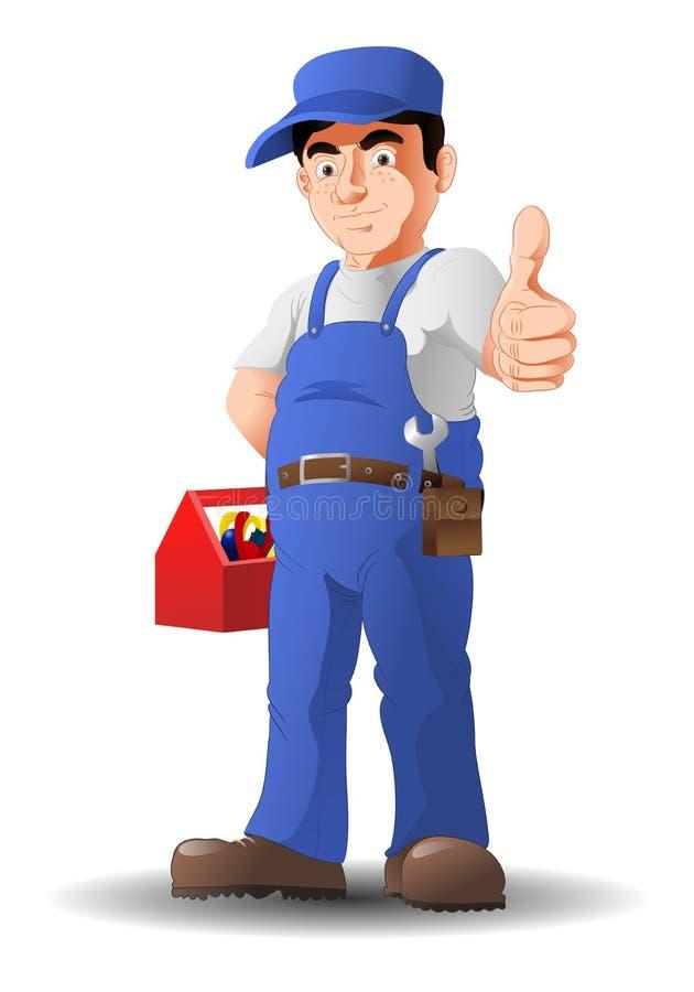 Mechanic thumb-up royalty free illustration