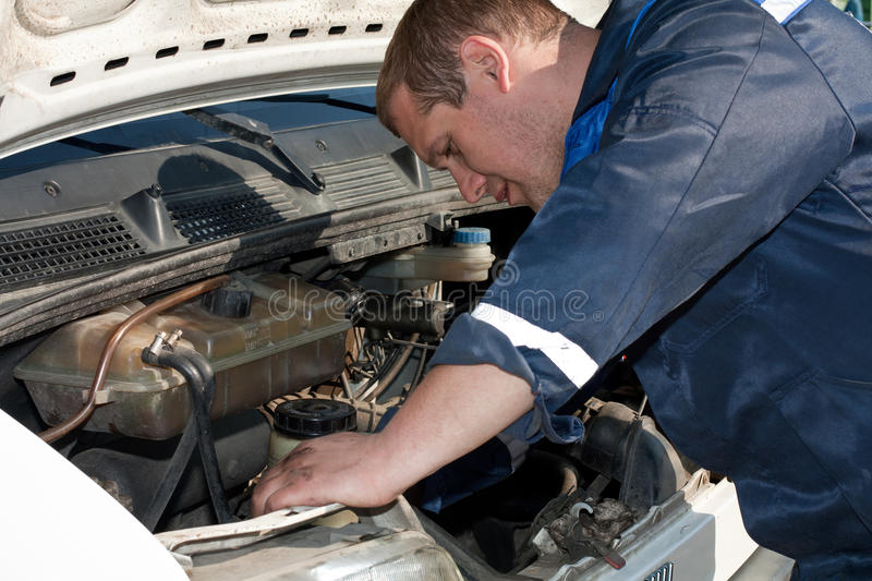 Mechanic at work royalty free stock photography