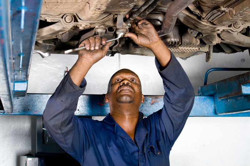 Mechanic at work stock image