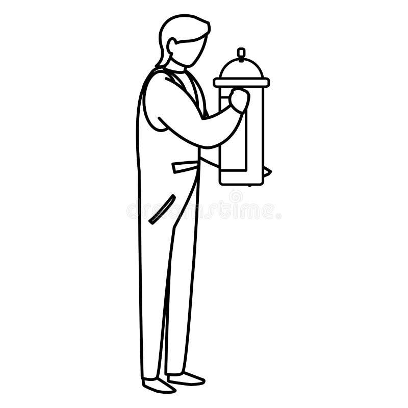Mechanic worker with extinguisher fire. Vector illustration design royalty free illustration