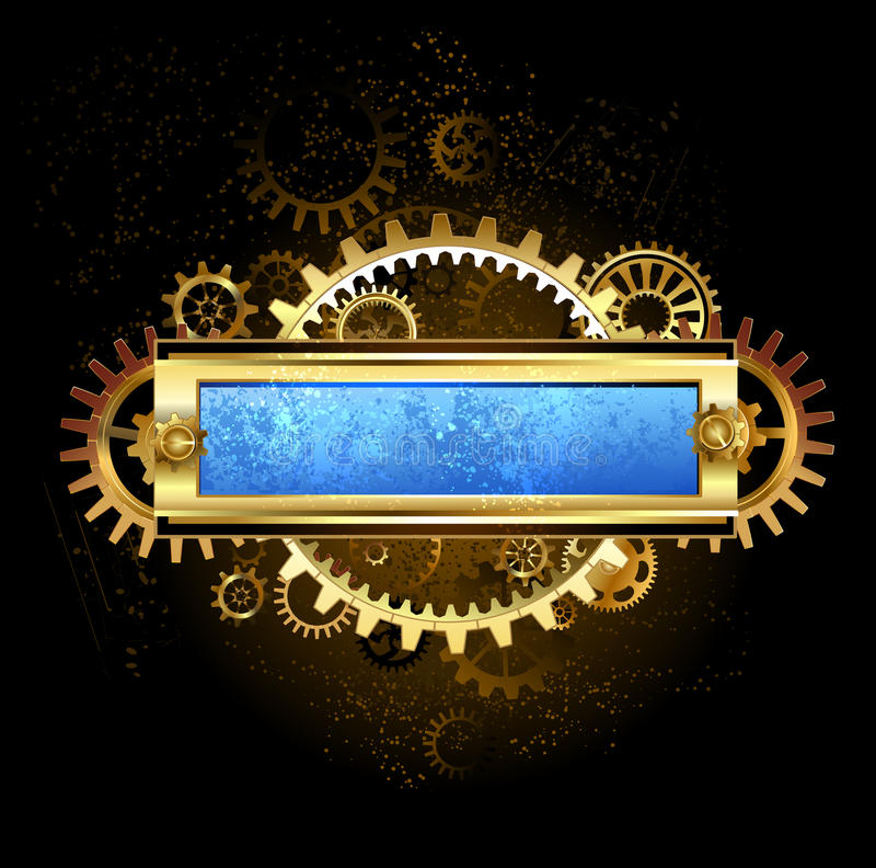 Download Mechanical blue banner stock vector. Illustration of equipment - 43382861