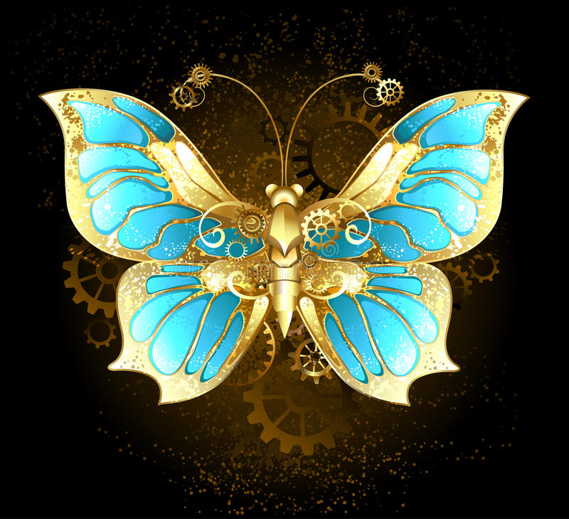 Download Mechanical Butterfly stock vector. Illustration of clockwork - 43382872