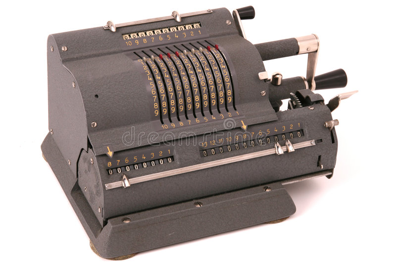 Mechanical calculator royalty free stock photography