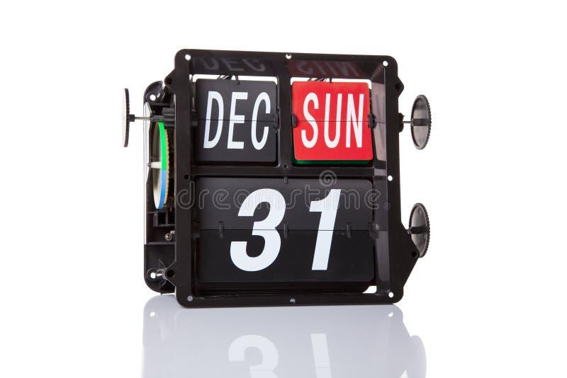 Mechanical calendar retro date isolated. stock illustration