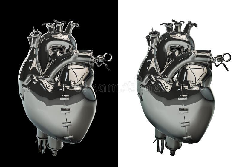 Mechanical Chrome Heart Royalty Free Stock Photography