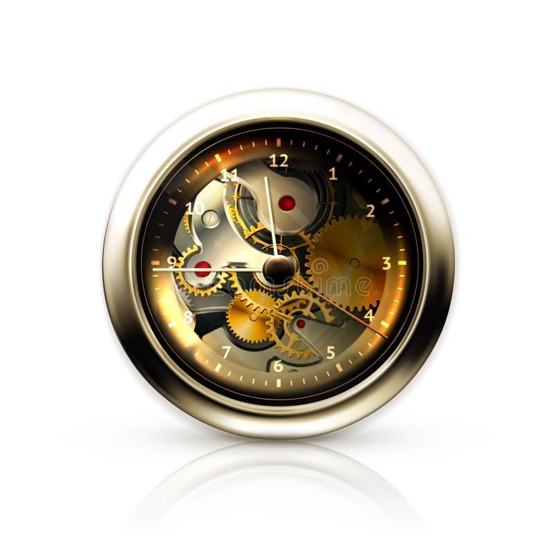 Download Mechanical clock stock vector. Illustration of background - 24523788