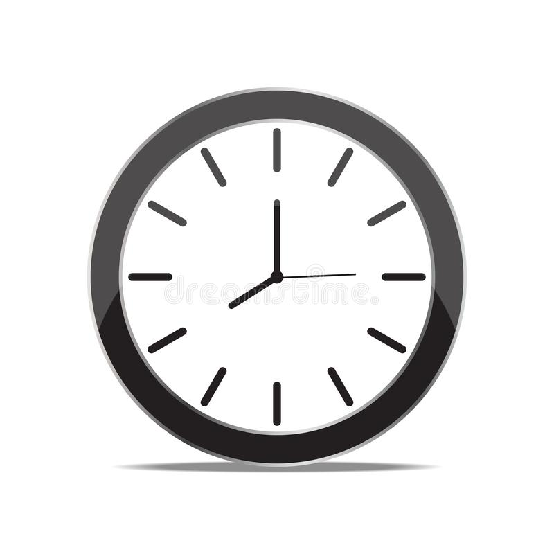 Mechanical clock vector. Is a general illustration royalty free illustration