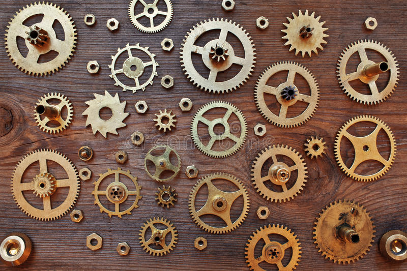 Mechanical cogs gears wheels royalty free stock photos