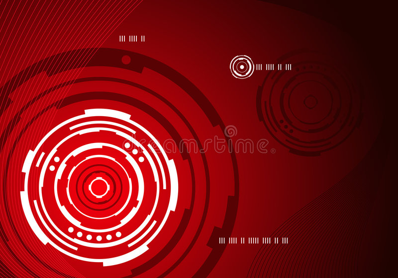 Mechanical concentric abstract background vector illustration