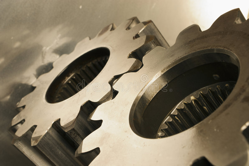 Mechanical concept in sepia toning royalty free stock images