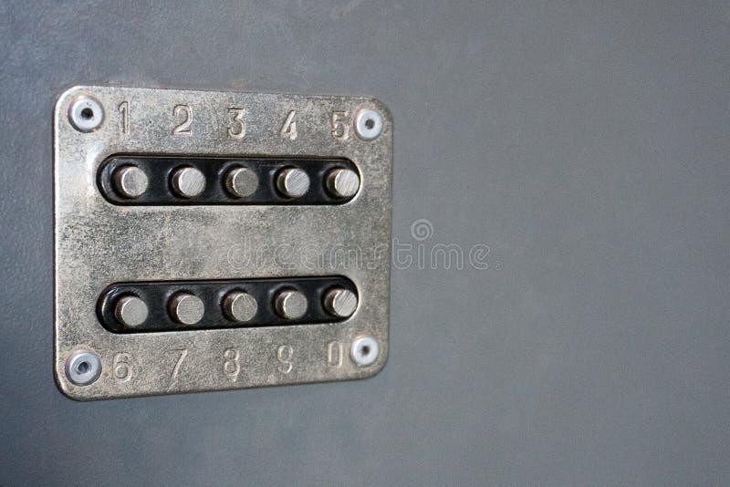 Mechanical door lock controll royalty free stock photo