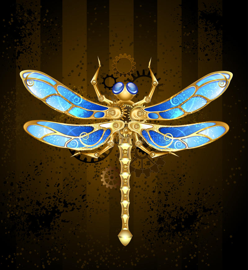 Free Mechanical Dragonfly Royalty Free Stock Photos - 43382878