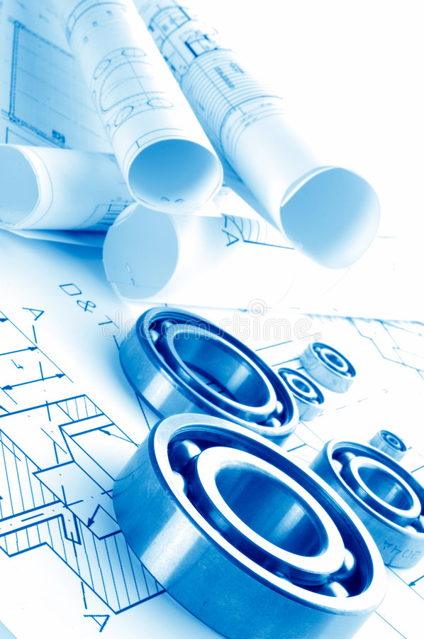 Mechanical drawing royalty free stock photo