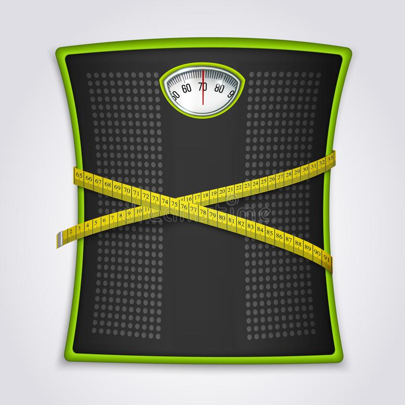 Weight Loss Fitness Realistic Concept royalty free illustration