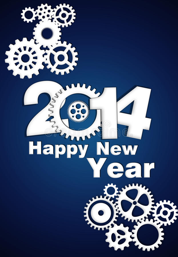 Download 2014 Mechanical Gear stock illustration. Image of greetings - 34052714
