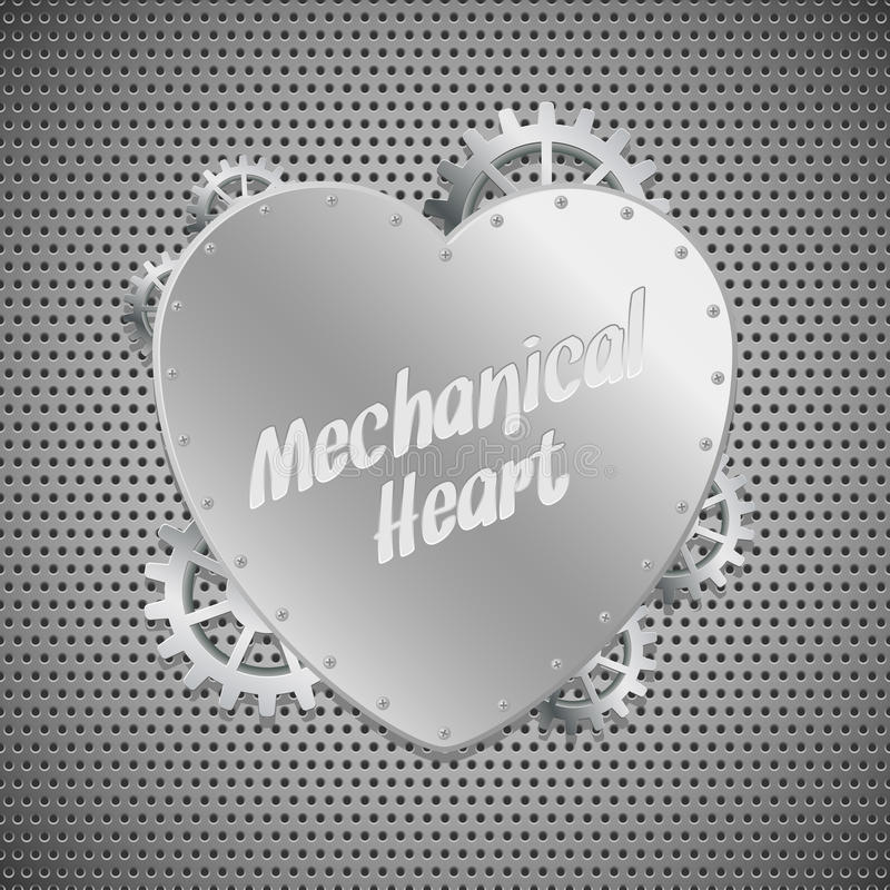 Download Mechanical heart stock vector. Illustration of construction - 21011352