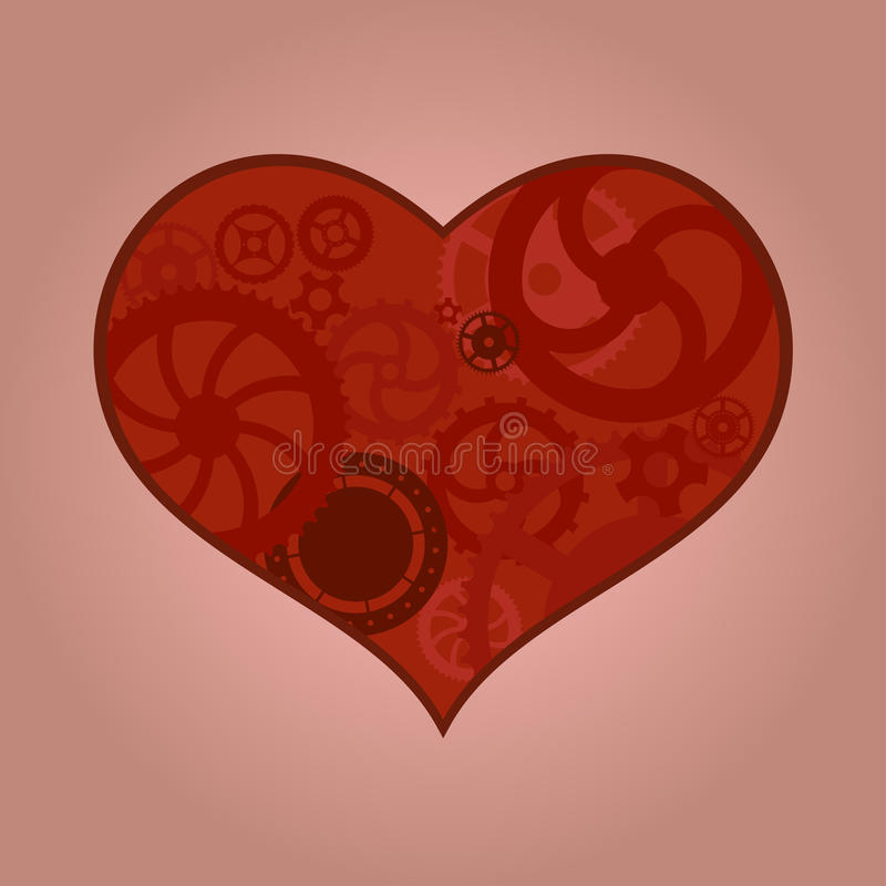 Download Mechanical heart stock illustration. Image of comic, clip - 26896090
