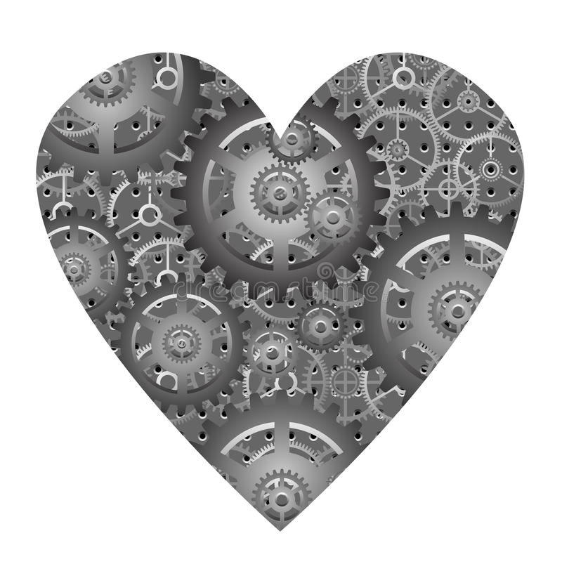 Mechanical Heart - Vector Stock Photo
